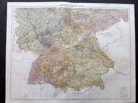 Gross 1920 Large Map. Germany - South West
